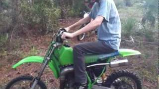 Riding The Kawasaki KX80 Motocross Bike