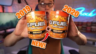 "WHAT'S CHANGED? ""PEACH COBBLER"" G-FUEL UNBOXING AND TASTE TEST & 2020 TUB VS 2019 TUB!"