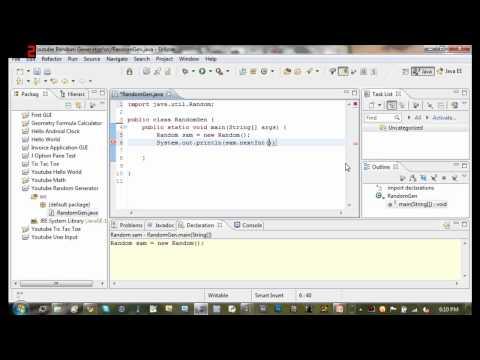Java Tutorial 8 - Random Number Generator