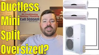 HVAC Ductless system oversized? Walls sweating or creating mold. Tip to properly operate mini-split.