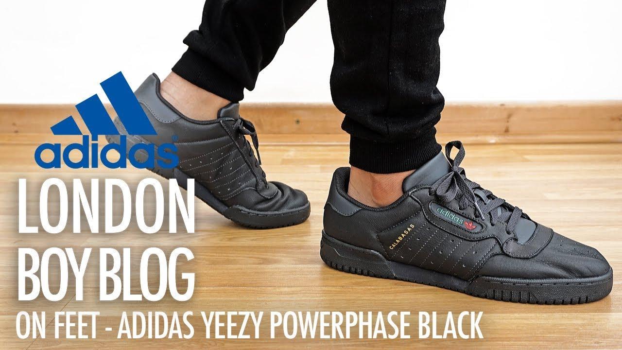 su piedi adidas yeezy powerphase nero su youtube