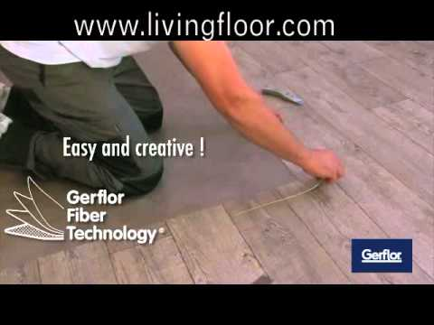 verlegung von gerflor pvc boden mit textilr cken youtube. Black Bedroom Furniture Sets. Home Design Ideas