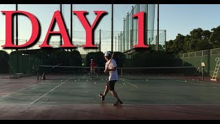 【DAY 1】Two Handed Backhand practice