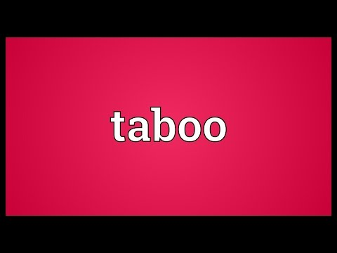 Taboo Meaning
