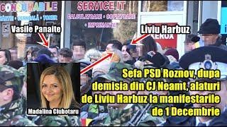 Sefa PSD Roznov Abia Plecata Din CJ Neamt Alaturi De Liviu Harbuz La Manifestarile De 1 Decembrie