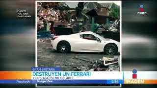 ¡Destruyen un Ferrari que costaba 350 mil dólares! | Noticias con Francisco Zea