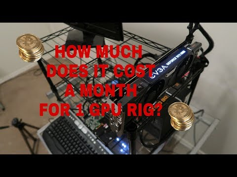 HOW MUCH DOES IT COST TO RUN A 1 CARD MINING RIG?
