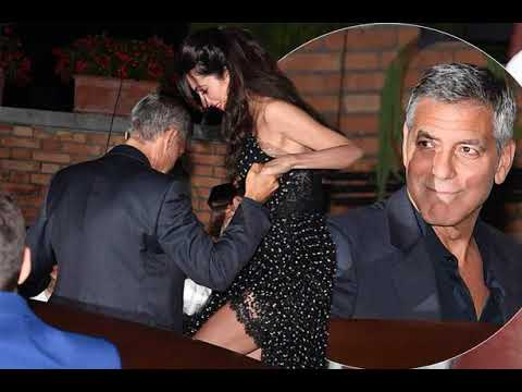 Amal Clooney stuns on romantic date night in Venice with George Clooney who is ever the gentleman