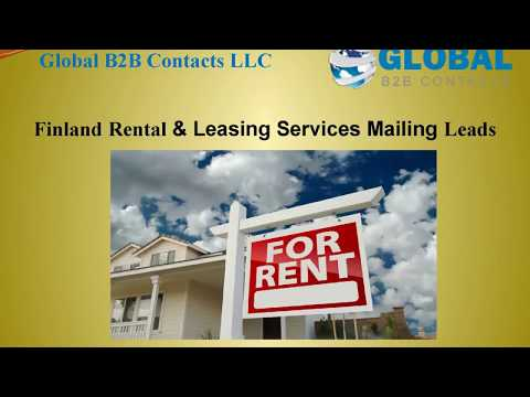 Finland Rental & Leasing Services Mailing Leads, http://globalb2bcontacts.com