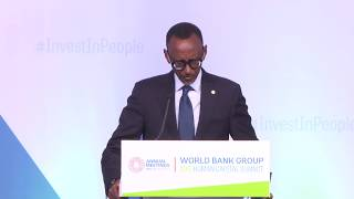 President Kagame delivers keynote address at World Bank Group 2017 Human Capital Summit.