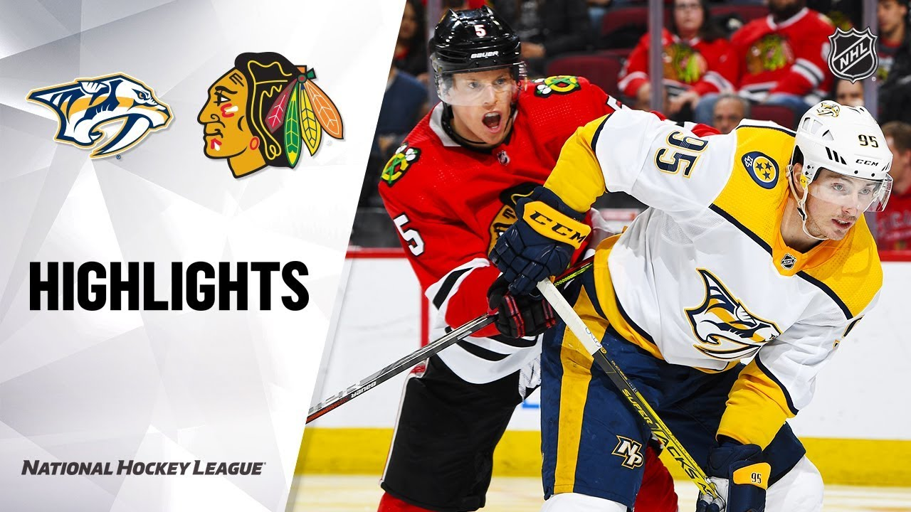 NHL Highlights | Predators @ Blackhawks 1/9/20