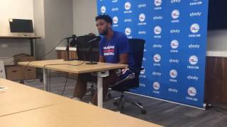 Jahlil okafor at sixers media day