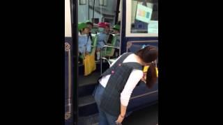 初めての幼稚園バス
