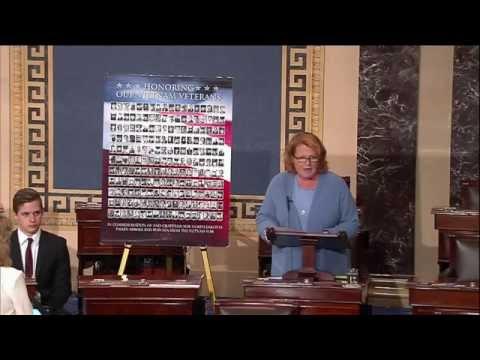 Heitkamp Concludes Series of 15 Speeches on Senate Floor Honoring Fallen ND Veitnam War Veterans