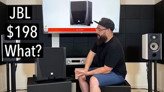 JBL SUB 550P Subwoofer Review.  Possible low budget champ.