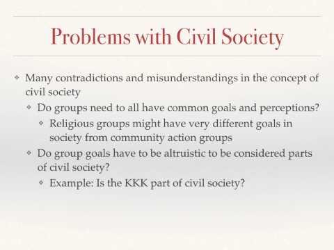 Civil Society, Interest Groups, Media