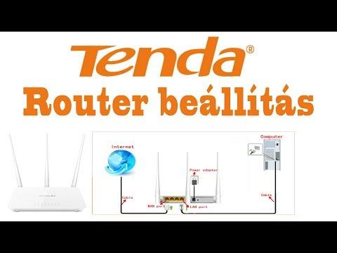 Tenda F3 Router Beállítása