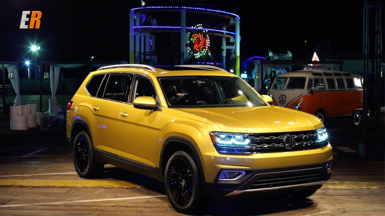 NEW WORLD PREMIERE - 2018 VW Atlas - Competition for Highlander, Pathfinder and Pilot? - YouTube