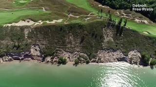 Hundreds of golf balls in Lake Michigan near Arcadia Bluffs