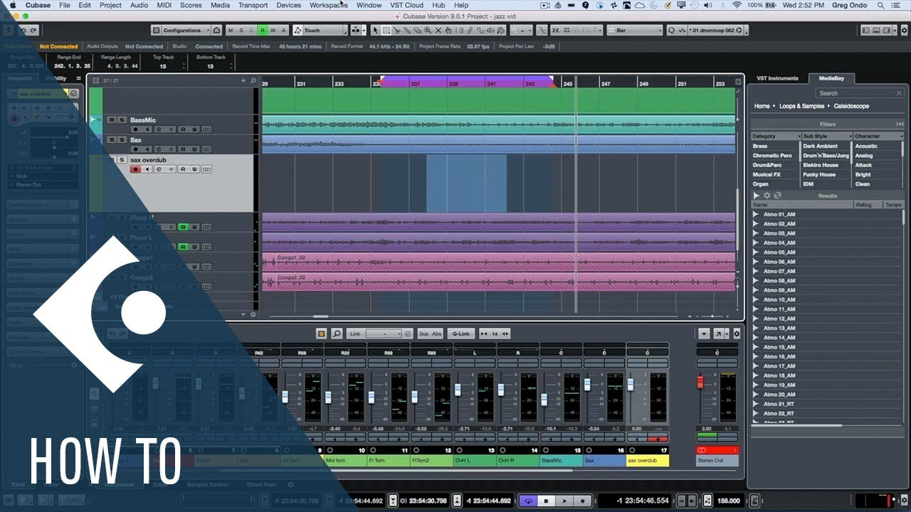How To Set Up The Punch In And Punch Out In Cubase Q A With Greg Ondo Youtube