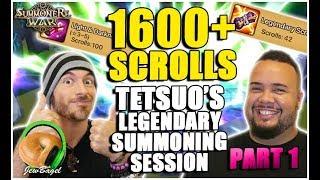 SUMMONERS WAR : Tetsuo's Legendary Summons! 100 LD & 42 LEG (Part 1)