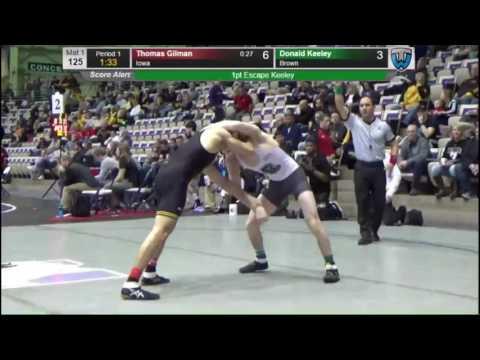 Thomas Gilman (Iowa) vs Donald Keely (Brown) - 125lbs Midlands