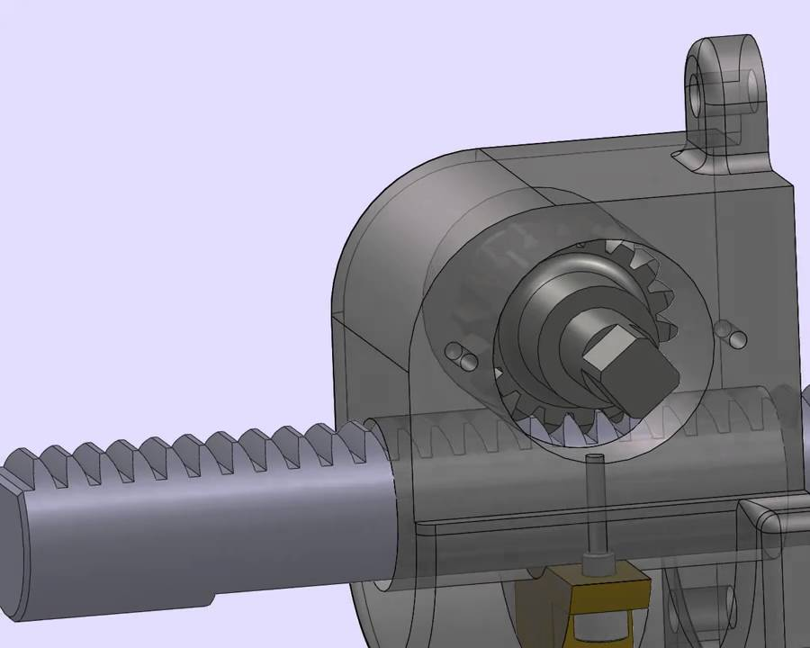 Solidworks Rack Amp Pinion Motion Study Animation Youtube
