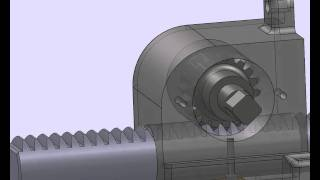 Solidworks rack & pinion motion study animation