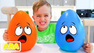 مفاجأة فلاد ونيكي والتحدي مع بيض الشوكولاتة