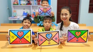 Kids go to School Learn Coloring Envelope Fun Classroom   Nursery Rhymes Songs for Kids