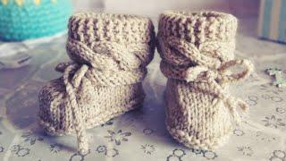 Вязаные Пинетки / Пинетки спицами / вязание для начинающих