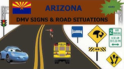 Arizona DMV Signs & Road Situations Practice Test  - AZ DMV practice test