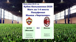 КК 2020 Голы ЦСКА Москва Россия Милан Милан Италия 4 3
