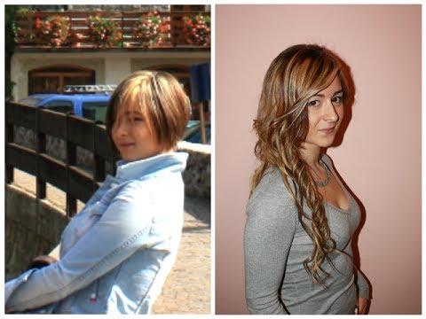 Extension su capelli medi