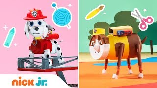 PAW Patrol: How to Make Marshall & Rubble Surprise Toys 🐶 | DIY Crafts | Nick Jr.