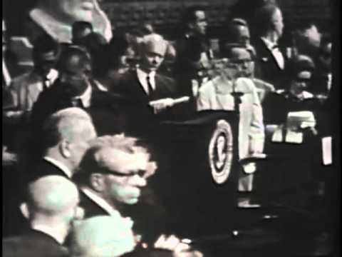 President Lyndon B. Johnson signs the Voting Rights Bill, 8/6/1965. MP544.