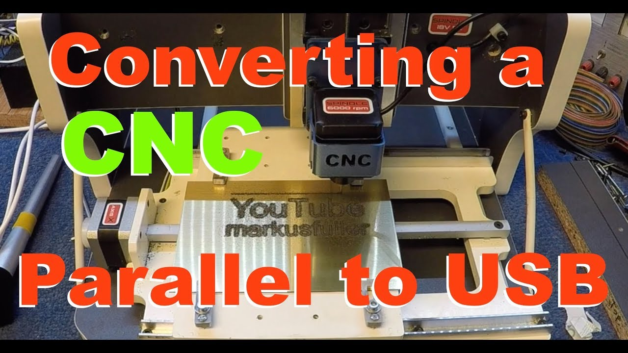 Repair CNC machine and convert from parallel to USB for Mac & Windows