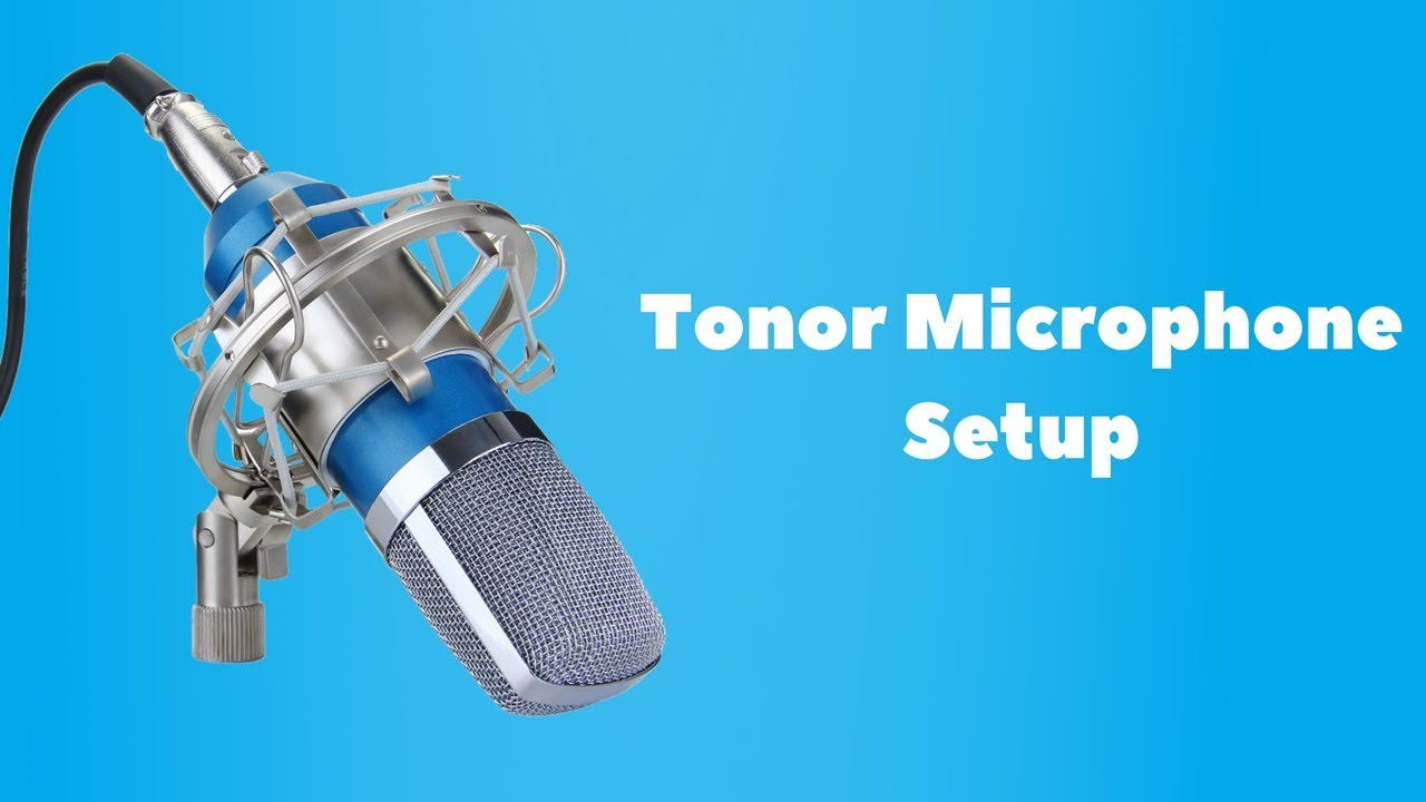 Tonor Studio Microphone Setup Tutorial - YouTube