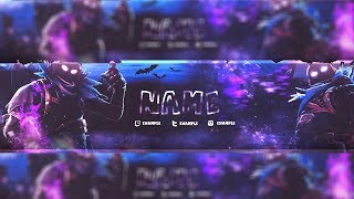 Fortnite Banner Template Speedart (1) - Free Download (Desc.)