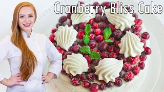 Cranberry Bliss Cake With Orange Butter Cream Frosting