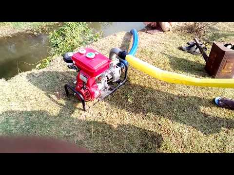 Honda kerosene water pump in live action