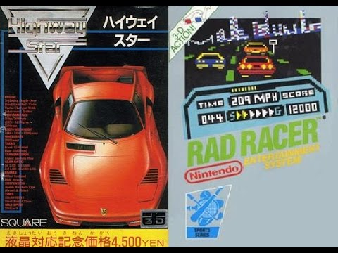 ハイウェイスター Highway Star (Famicom, 1987), Rad Racer (NES, 1987)