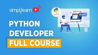 Python Developer Full course   Python Programmer Course   Python For Beginners   Simplilearn