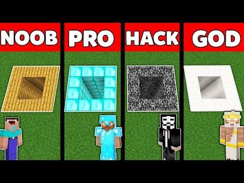Minecraft Battle: NOOB vs PRO vs HACKER vs GOD : UNDERGROUND TUNNEL Challenge in Minecraft Animation
