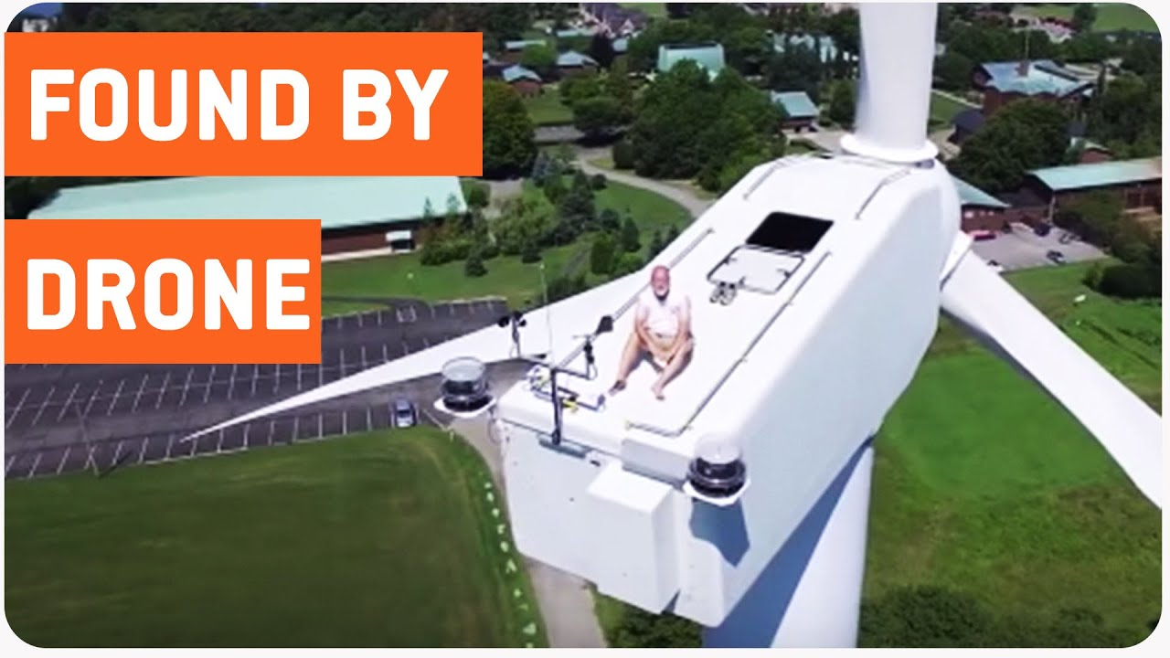 Drone Finds Man Napping On A Wind Turbine | Way Up