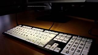 Produktvideo zu Hochwertige Großschrift-Tastatur Logickeyboard Nero Slim Line Schwarz auf Weiß