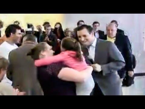Senator Ted Cruz Scares Little Girl