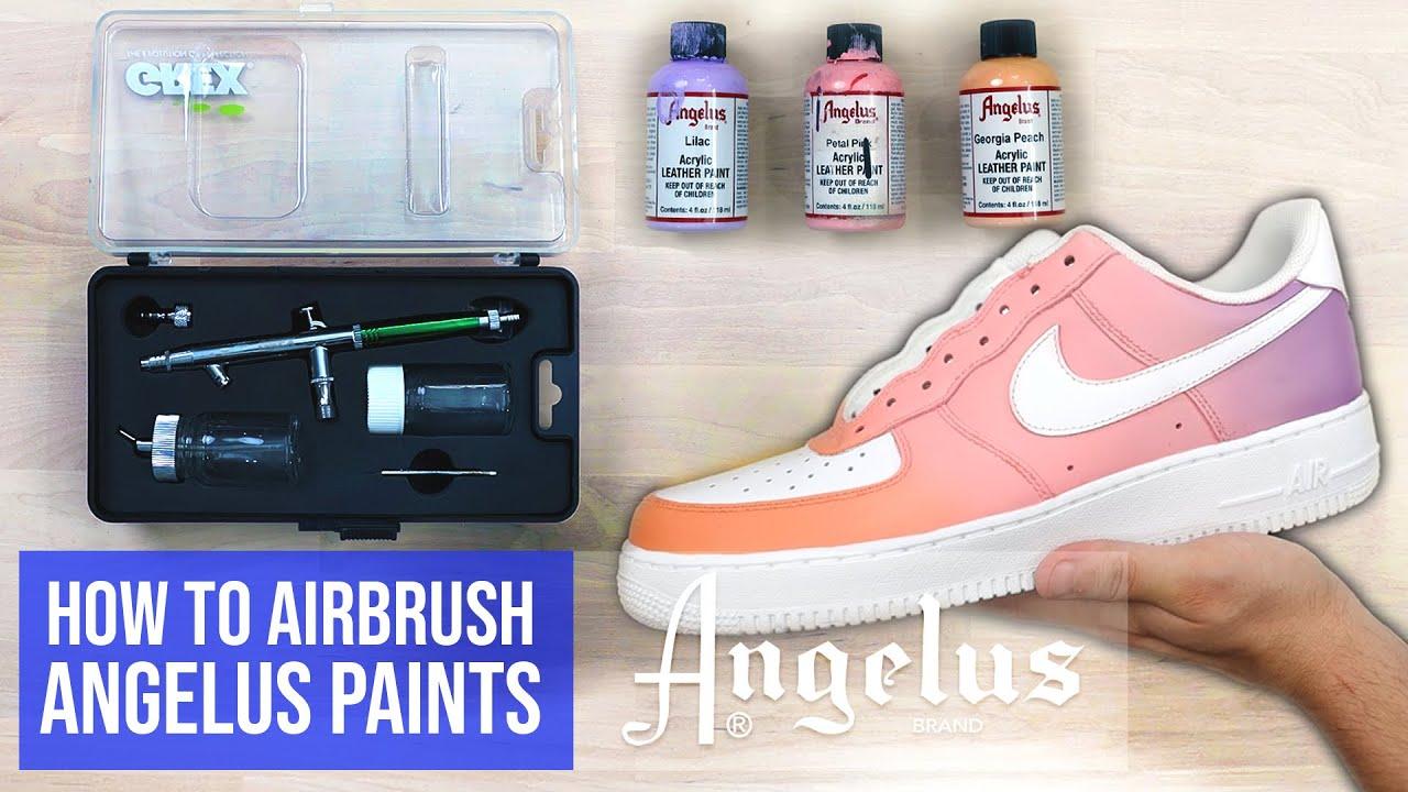 Airbrushing Using Angelus Paints