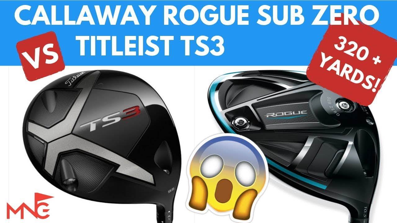 Titleist TS3 Driver VS Callaway Rogue Sub Zero Driver With 320+ Yard  Drives!!!!!