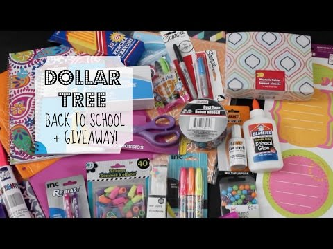 Dollar Tree Back-to-School & GIVEAWAY! | School Supply Haul (CLOSED)